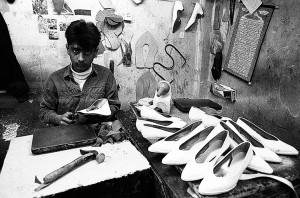 The Workshop of Women's shoes, Iran, Tehran, 1995